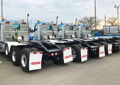 Flat Headache Racks on Fleet of Trucks