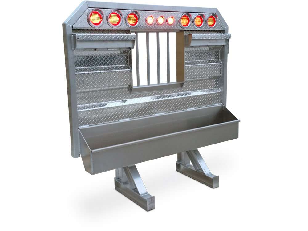 Flat/Open Semi Truck Headache Racks With Light Bar