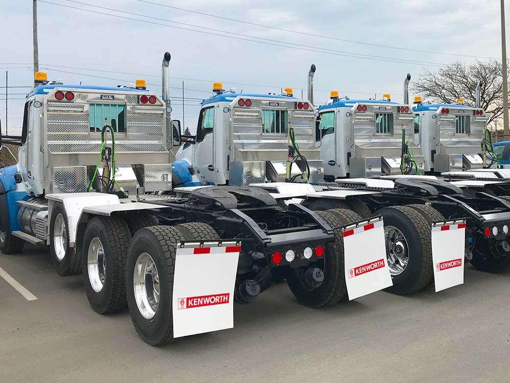 Flat Headache Racks on Fleet of Trucks