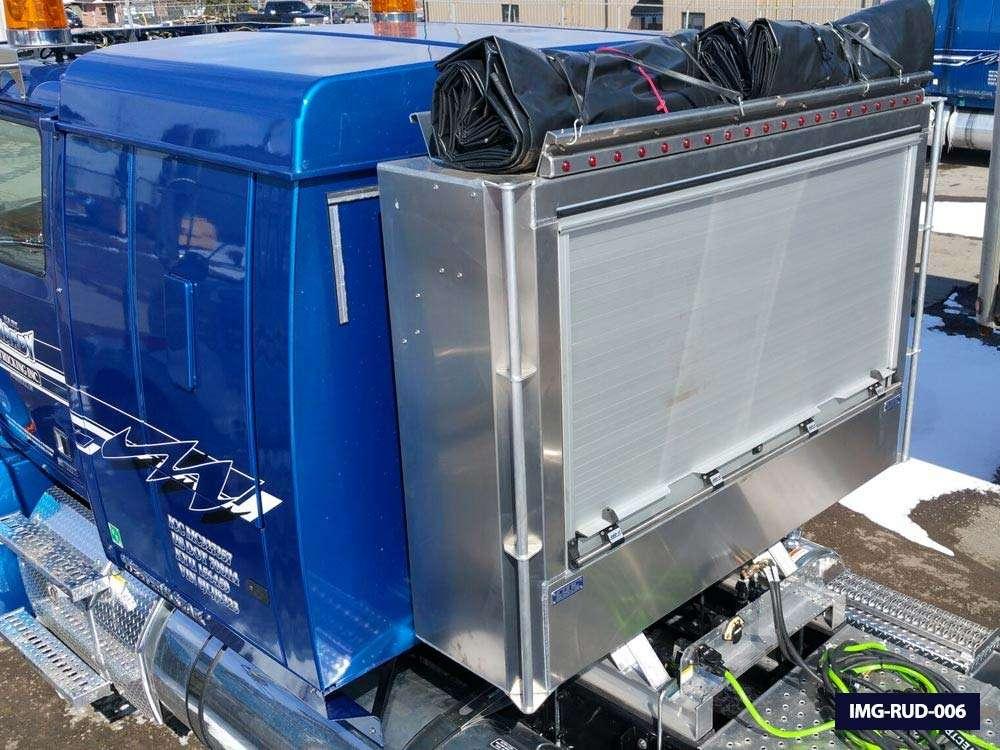 Semi Truck Roll Up Door Enclosed Headache Racks Iconic