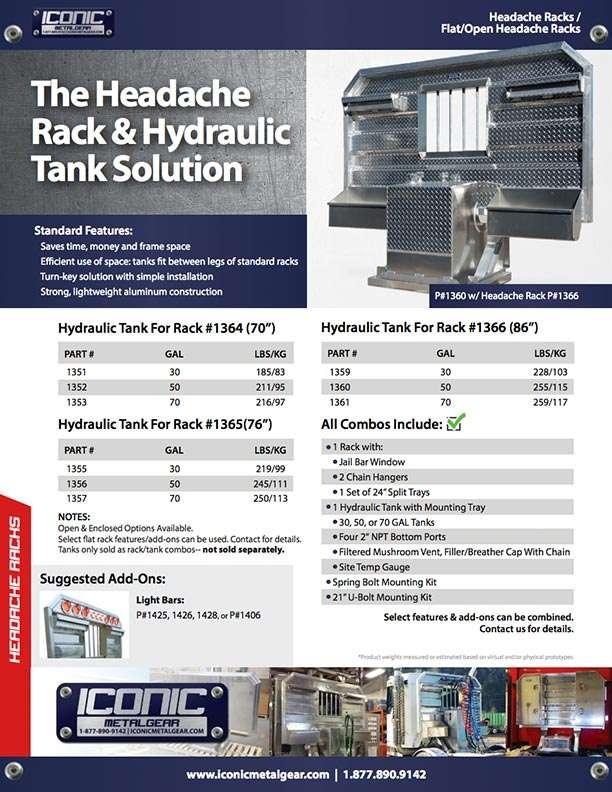 Semi Truck Hydraulic Tank and Headache Rack Combo   Iconic