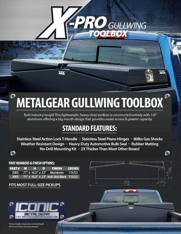 2020 X-Pro Gullwing Catalogue Page