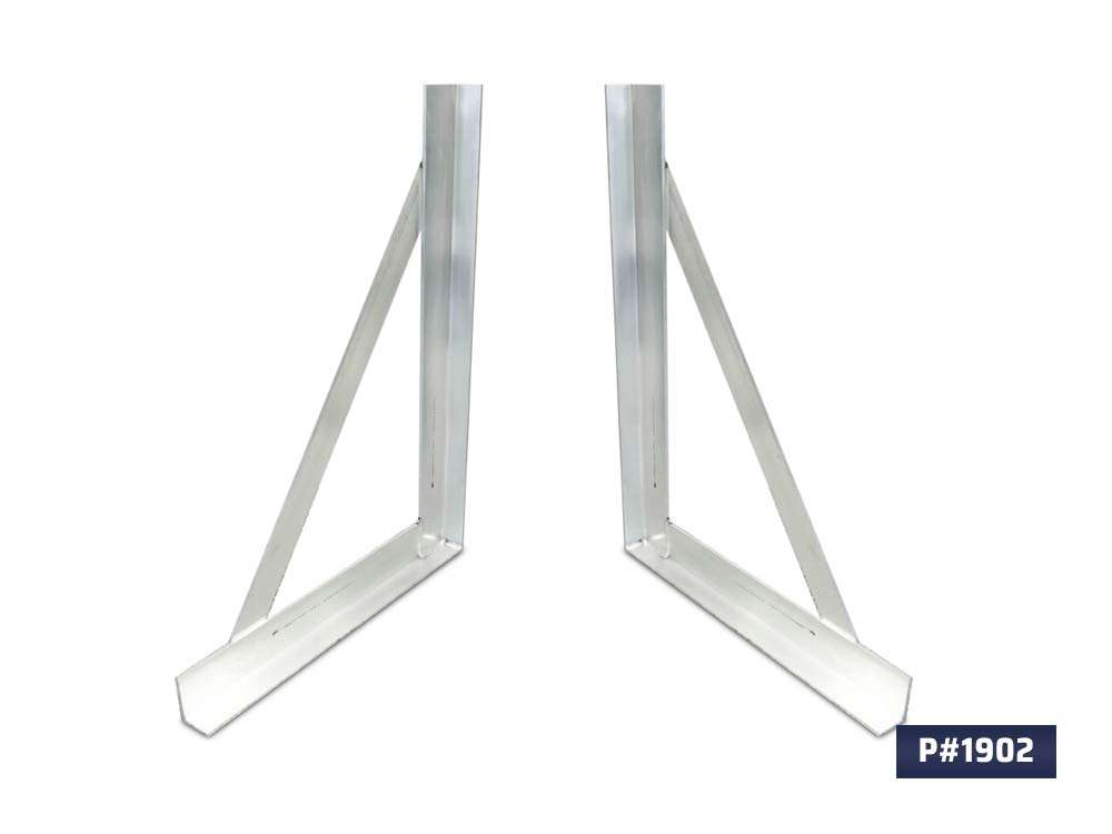 Aluminum L-Brackets for mounting toolboxes 1902