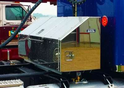 Day cab storage box with stainless steel skin