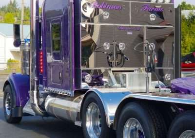 Stainless steel monster headache rack on truck