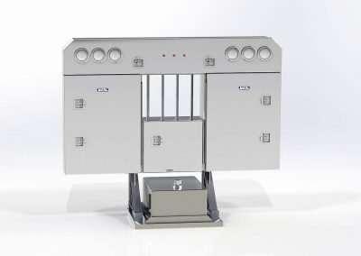 Narrow smooth aluminum enclosed headache rack hydraulic tank combo rendering