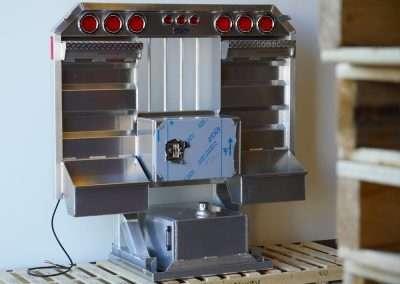 Smooth aluminum rack/tank combo